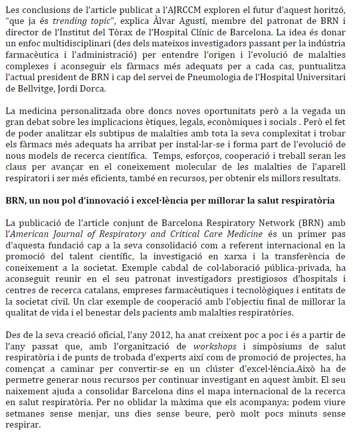 BRN situa Barcelona com a referent en medicina respiratòria pernosalitzada (2)